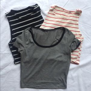 Tops - Three crop tops bundle, size small